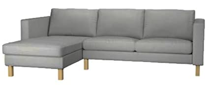 Sofa Cover Only! The Karlstad Loveseat ( Two Seat ) Sofa With Chaise Lounge  Sectional