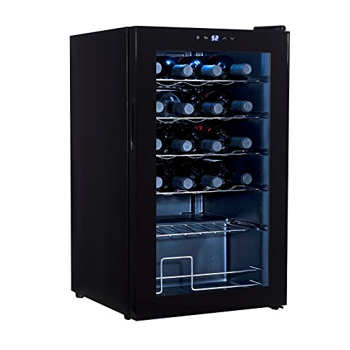 Mecor 24-Bottle Compressor Wine Cooler Freestanding Wine Chiller Refrigerator Cabinet,Black by mecor