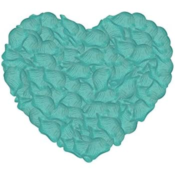 Neo LOONS 1000 Pcs Artificial Silk Rose Petals Decoration Wedding Party Color Tiffany Blue