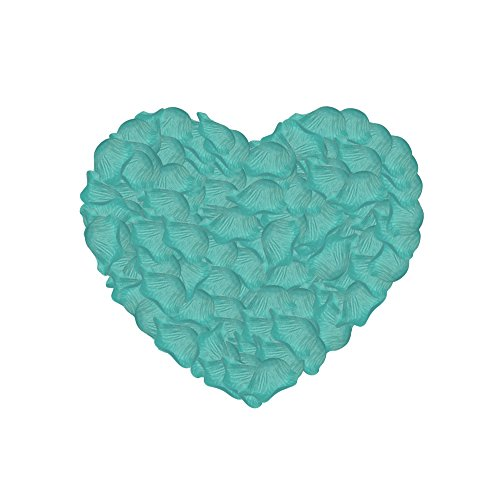 (Neo LOONS 1000 Pcs Artificial Silk Rose Petals Decoration Wedding Party Color Tiffany Blue)