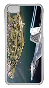 linfenglinCustomized iphone 5C PC Transparent Case - F22A Raptor Flying Over Virginia Personalized Cover