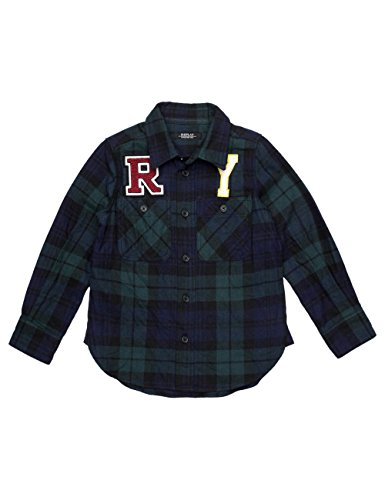 Replay Boy's Blue Checked Shirt With Print in Size 14 Years Blue by Replay