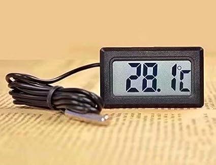 Waymeduo LCD Digital Thermometer Tester f/ür K/ühlschrank Aquarium
