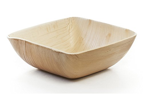 Deep Gift Bowl (Leafware Square Deep Bowls (25 Pack), 6.5