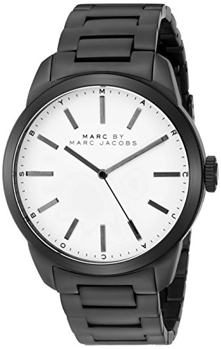 Marc by Marc Jacobs Men's MBM5089 Dillon Analog Display Analog Quartz Black - Men Mark Jacobs For