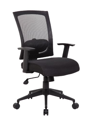 (Boss Office Products B6706-BK Mesh Back Task Chair in Black)