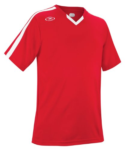 Britannia Soccer Jersey - Adult Small, Red/White