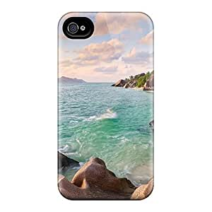 Slim Fit PC Protector Shock Absorbent Bumper La Digue Beach Seychelles Case For Samsung Note 4 Cover