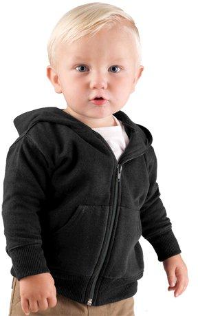 3446 Rabbit Skins Infant Zipper Hooded Sweatshirt