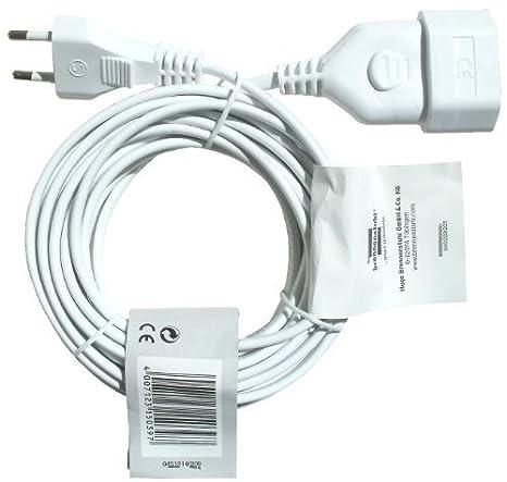 Blanco 3 metros Brennenstuhl 1161660 Cable de Pl/ástico 230 V