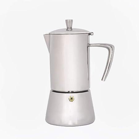 BJYG Cafetera Moka Pot Mocha cafetera de Acero Inoxidable 304 Olla Moka Italiana concentrada 4 Tazas: Amazon.es: Hogar