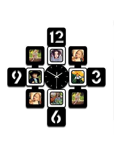 YXMxxm DIY Frame Clock,Modern Design DIY Photo Frame Clock High Density Board Art Pictures Clock - Make Your Own Multi-Photo Clock by YXMxxm (Image #7)