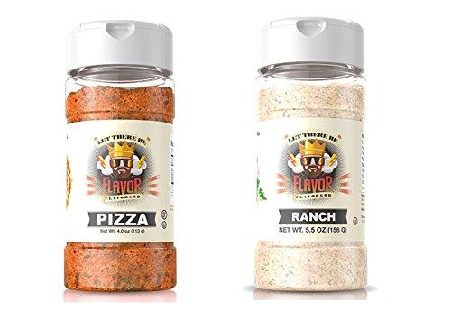 Flavor God 4 oz. Pizza Seasoning Bottle and Flavor God 5 oz. Ranch Seasoning Bottle bundled by Maven Gifts (4 God Seasonings)