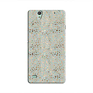 Cover It Up - Brown Cyan Pebbles Mosaic Xperia C4 Hard Case