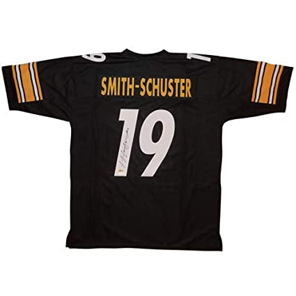 96ab595d8 Juju Smith-Schuster Autographed Pittsburgh Steelers (Black  19) Custom  Jersey - JSA