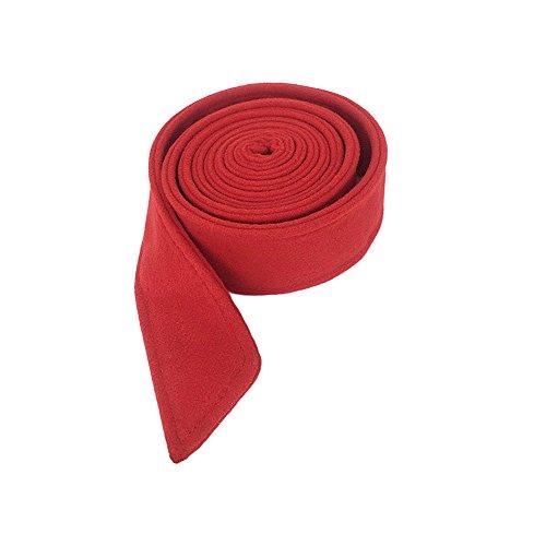 Red Overcoat (Ya Jin Woolen Women Wrap Corset Cinch Tie Wide Waist Belt Band for Overcoat)