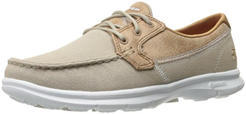 Beige Skechers Náuticos Nat Step Go para Seashore Mujer wTn81pxTq