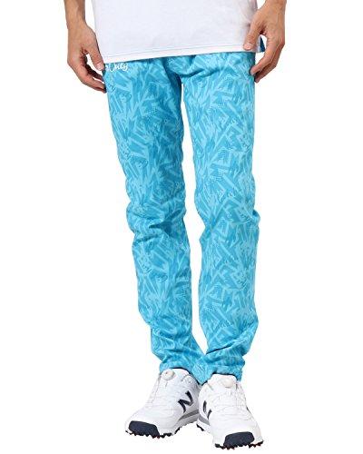 [ガッチャ ゴルフ] GOTCHA GOLF パンツ メキシカン柄 スーパー ストレッチ 総柄 ロングパンツ 182GG1800 ターコイズ XXXLサイズ