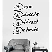 Large Vinyl Wall Decal Office Motivation Quote Team Stickers Mural (ig3659) Pink