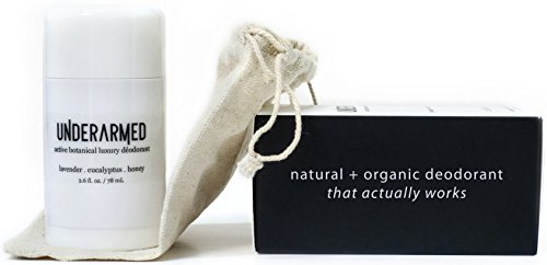 Natural Aluminum Free Deodorant Stick (That Works!) Stay Fresh All Day - Underarmed for Women & Men - Organic, Healthy, Safe, Non Toxic - Phthalate, Paraben, Gluten & Cruelty Free (Lavender Scent) ()