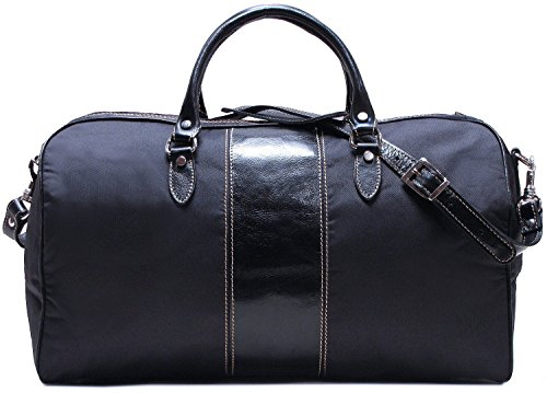 Floto Venezia Leather Duffle Bag in Black by Floto