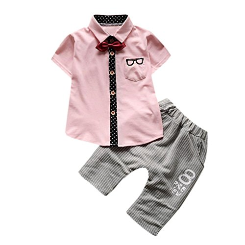 Baby Boys Clothes Outfits, TRENDINAO Newborn Toddler Infants Baby Boy Glasses Tops+Shorts Tie Gentleman Outfit Set