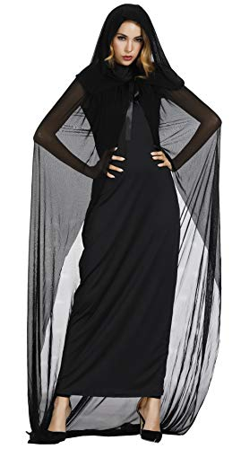 frawirshau Women's Halloween Witch Costume Dark Full Length