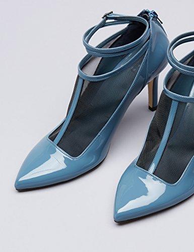 Montante Empeigne Blue FIND À Vernis Bleu Bride Femme Escarpins ZwqqvI7X
