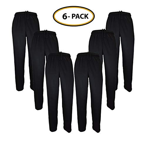 Classic Chef Pants (XX-Large, 6 Pack Black)