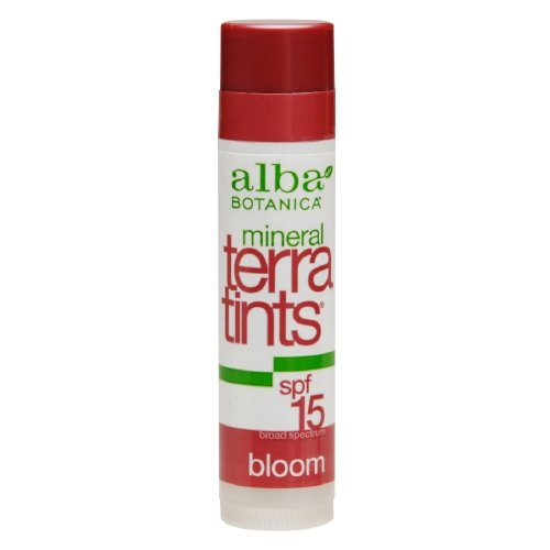 Alba Botanica Mineral TerraTints Lip Balm, Bloom 0.15 oz - Alba Terratints Natural