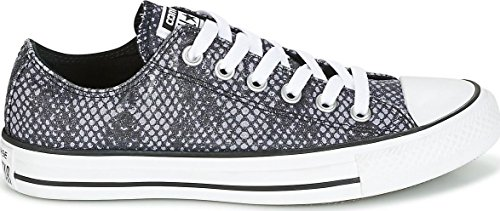 Canvas Taylor Converse Trainers Sharkskin Ox All Star Chuck Womens Black OYYAqxE6