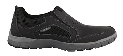 Rockport Men's Kingstin Slip On Oxford, Black, 8.5 W US