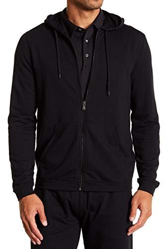 John Varvatos Men's Long Sleeve Classic Zip Front Hoodie Medium - Mens Zip Varvatos John