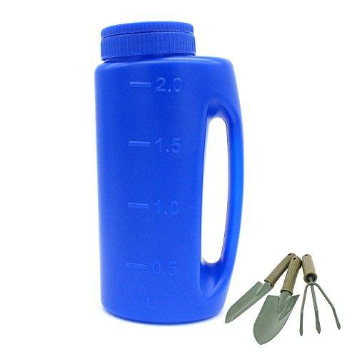 Fertilizer Seed Salt Spreader, Handheld Spreader - Fertilizer, Grass Seeds, Weed/Ant Killer, Insect Repellent, Diatomaceous Earth, Salt, Calcium Chloride, Deicer shaker. + Small Shovel / Rake / Spade - Handheld Fertilizer Spreader