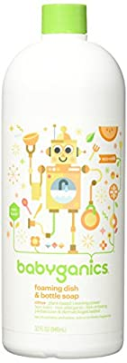 Babyganics Foaming Dish and Bottle Soap Refill, 32 Ounce (Pack of 2)
