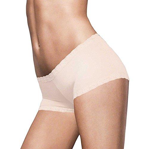 Microfiber Shorts Lace (Maidenform Microfiber and Lace Boyshort_Latte Lift_5)
