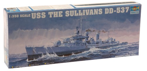 Trumpeter 1/350 Scale USS The Sullivans DD537 Destroyer