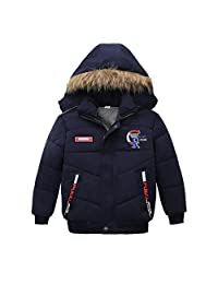 TiTCool Toddler Kids Baby Boys Autumn Winter Jacket Coat Warm Padded Thick Outerwear Clothes