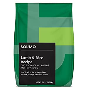 Amazon Brand - Solimo Premium Dry Dog Food Lamb & Rice Recipe (30 lb Bag)