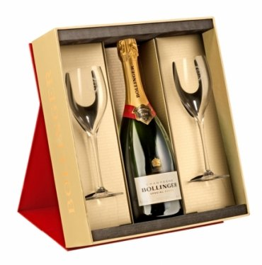 Bollinger Special Cuvee Brut Champagne in Gift Set with 2 Flutes NV 75 cl: Amazon.co.uk: Grocery
