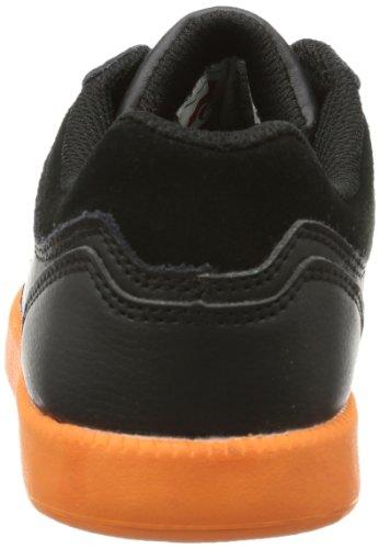 Quiksilver LITTLE AREA 5 ACTION - Zapatillas De Skate de cuero infantil negro - Schwarz (BLK BLK NEON)