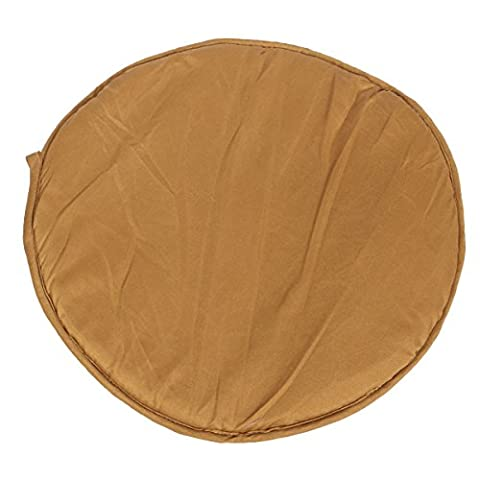 KINGSO Seat Cushion Chair Pads for Office Home Kitchen Dinning Room with Ties Round 35x35x2cm Brown (Round Chair Pads With Ties)