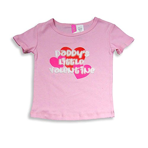 Too Shy - Little Girls' Short Sleeve Tee Shirt, Pink 13957-6 (Tee Girl Shy)