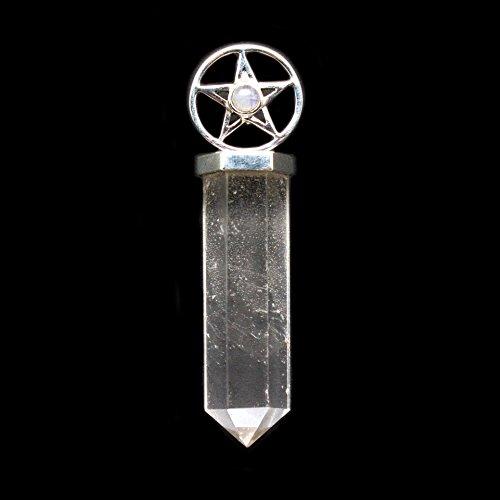S.S. Quartz Point with Moonstone Pentacle Pendant