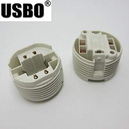 (Lamp Base - 3A 220V white G24 two or four needle universal Lamp Holder LED energy saving Lamp G24 aging lamp holder - (Color: WHITE, Base Type:)