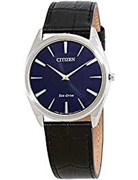 Mens Citizen Eco-Drive Stiletto Blue Dial Strap Watch AR3070-04L