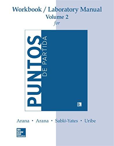 WORKBOOK/LAB MANUAL V2  FOR PUNTOS DE PARTIDA: INVITATION TO SPANISH (Punto De Partida)