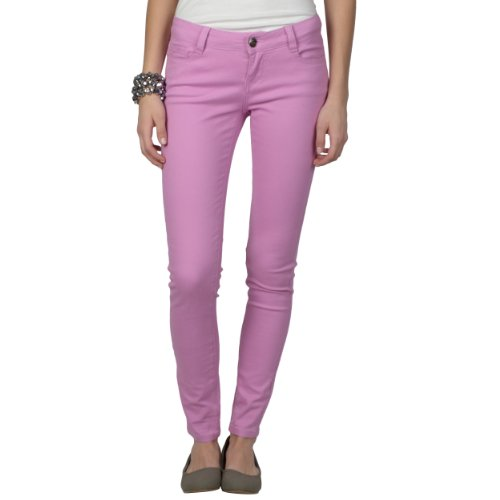 Brinley Co. Juniors Stretchy Solid Color Skinny Pants