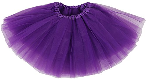 Girl's 4 Layered Ballet Tutu Skirt,Purple,2-8