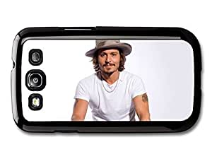 AMAF ? Accessories Johnny Depp White Background Smiling Hat case for Samsung Galaxy S3